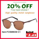 Lunettes de soleil polarisées par métal classique plus vendu de mode