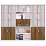 Armazenamento de gabinete de escritório personalizado com porta de vidro (SZ-FC079)