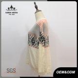 Chandail de chemise de l'Islande Argyle de mode de femmes long
