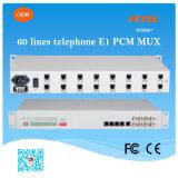 19 Stimme der Zahnstangen-Telefon-Ergänzung-1~60 der Kanal-FXO/FXS über E1 PCM Mux