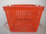 Оптовое Supermarket Plastic Shopping Handle Basket с New Material