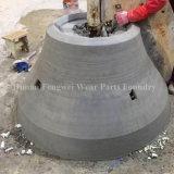 Aço de manganês elevado da fundição que esmaga peças sobresselentes do desgaste do equipamento