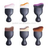 Cepillo curvado del maquillaje de la fundación de la cara del cepillo de la fundación del maquillaje que contornea solo