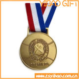 Легирующий металл цинка резвится медаль с подгонянной тесемкой (YB-LY-C-02)