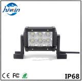 lumière tous terrains de mini de l'éclairage LED 18W de barre de double qualité de rangée pour des camions Utvs