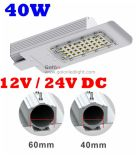 40W Solar Street Light LED 12V 24V 36V Philips SMD 3030 Substituir 125W Metal Halide Lamp Mhl HPS