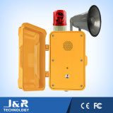 Industrielles VoIP Telefon, Tunnel-Telefon mit Leuchtfeuer und Klopfer