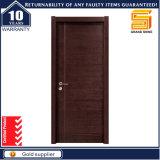 Portello di vetro interno su ordinazione laminato PVC solido di legno