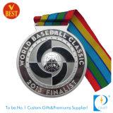 Kundenspezifische Baseball-Medaille im Gold/im Silber/in der Bronze mit Farbband