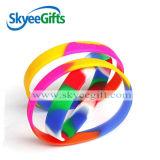 Bracelet de silicones de logo personnalisé par corps de mode