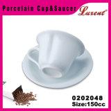 Preço barato da porcelana copos de venda e os Saucers de uma parte do café de 11 onças os melhores