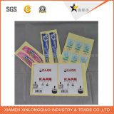 La coutume a estampé les étiquettes imperméables à l'eau de laser de roulis d'étiquettes que le produit produisent l'étiquette d'expédition