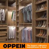 Disegno Walk-in del guardaroba dell'armadio della camera da letto del grano di legno di lusso moderno (YG16-M08)