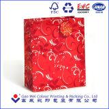 ¡Venta caliente! ¡! ¡! Bolsa de papel modificada para requisitos particulares de la Navidad con las manetas