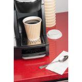 Wegwerfdreiergruppe ummauerte heißer Kaffee-Papierisoliercup