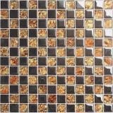 Teja vidrio cristalino del mosaico Mezclado inoxidable Stess de revestimiento de la pared (FYDJ-231A)