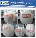 HDPE는 플라스틱 알갱이로 만드는 생산 라인을 재생한다