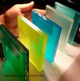 Vidrio laminado colorido decorativo con la película impresa del modelo o del color PVB o color teñido de cristal