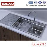Dissipador de cozinha Bl-725L do aço inoxidável da alta qualidade