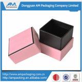 Vente en gros rose de luxe de boîte de bijoux de cadeau de papier de couleur