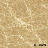 Azulejo de suelo Polished de azulejo del mármol del azulejo del esmalte lleno de Brown de la selva tropical 600*600
