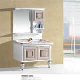 Side Cabinet를 가진 Quality 높은 Floor Standing PVC Bathroom Vanity