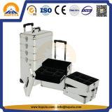 Travel Aluminium Cosmetic Beauty Tool Case para Salão (HB-3305)
