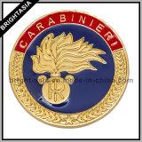 OEMの記念品(BYH10814)のための柔らかいエナメルの金張りの挑戦硬貨