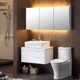 Module de salle de bains imperméable à l'eau blanc fixé au mur