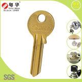 Espaços em branco de bronze da chave da casa do fechamento universal