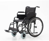 Manuale d'acciaio, piegando, sedia a rotelle, (YJ-005C)