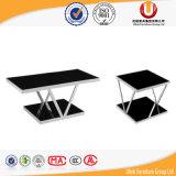 Tavolino da salotto di vetro del tè della mobilia del salone di modo (UL-ST831)
