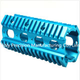 CNC Turning Machine Spare Parte con Blue Anodized