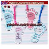 Etiquetas personalizadas del regalo del favor del cumpleaños del bautizo de la ducha de bebé de las huellas (BO-2003)