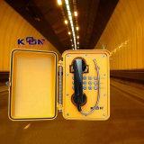 Teléfono marina impermeable industrial resistente impermeable Knsp-01 de la aleación de aluminio del anfitrión el SOS