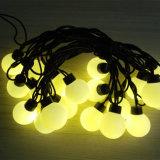 Luz da corda do Natal do diodo emissor de luz da esfera para o uso ao ar livre