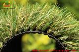 Зеленый цвет настила времени партии и циновки травы Brown смешанные искусственние