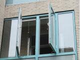 La finestra di alluminio della stoffa per tendine di migliore qualità con il lato ha appeso