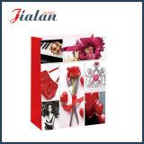 Comestics Shopping Gift der lamellierten Ivory Papier-Mattdame Papierbeutel