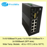 Gestionado Gigabit Ethernet Switch industrial con amplia Temperatura