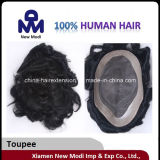 Remy Human Hairの安いMenのToupee