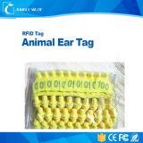Tag de orelha animal da freqüência ultraelevada do sistema de seguimento RFID dos animais