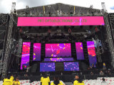 Vorhang der im Freien/farbenreiches Innenineinandergreifen-im Freien Bildschirmanzeige-LED mit dem 500*1000mm Panel (P10, P8)