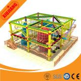 屋内屋外の子供の適性の運動場装置ロープのコースの冒険公園