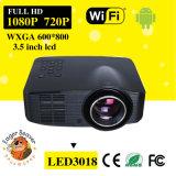 Hogar androide casero \ proyector del DLP del LED HD 3D WiFi mini con la resolución 1280X800