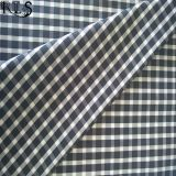 El hilado tejido del popelín de algodón teñió la tela para las camisas/alineada Rls50-32po