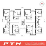 Huis van de Villa van het Staal van multi-verhalen het Lichte voor de Gebouwen van de Flat/van het Hotel/van het Bureau