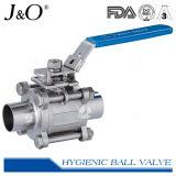 Санитарный шариковый клапан сварное соединение встык 3PCS с пусковой площадкой установки ISO5211