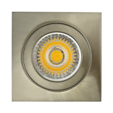 Mourir le satin blanc fixe carré LED enfoncée par nickel Downlight (LT1103) de la fonte d'aluminium GU10 MR16 G5.3