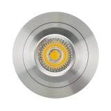 Потолочное освещение алюминия GU10 MR16 круглое фикчированное утопленное СИД Lathe (LT2118)